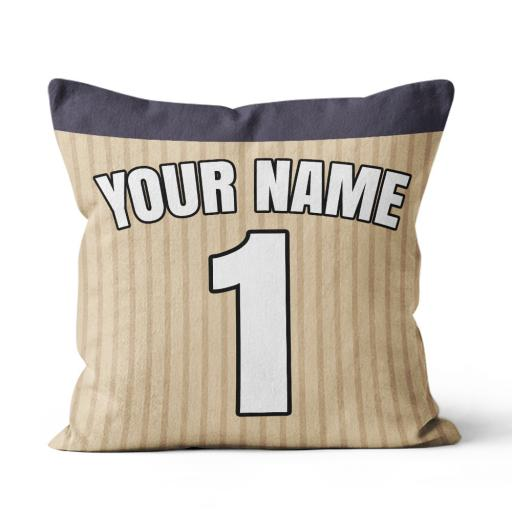 Football - Tottenham Away Kit Personalisation name and number - Faux Suede - Double Sided print - 45cm x 45cm