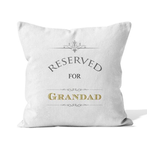 Reserved for - Smooth Linen - Double Sided print - 45cm x 45cm