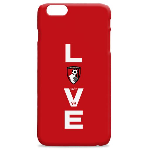 AFC Bournemouth Love Hard Back Phone Case