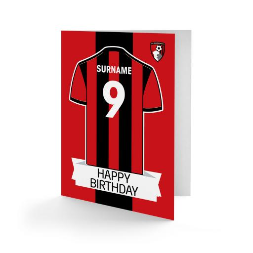 AFC Bournemouth Shirt Birthday Card
