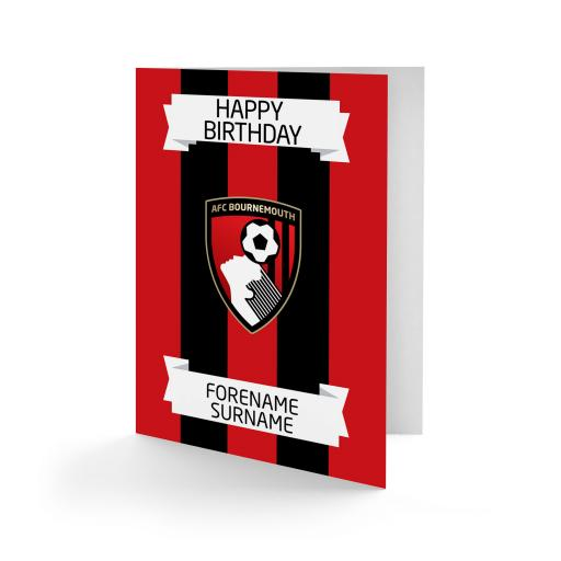 AFC Bournemouth Crest Birthday Card