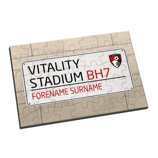 AFC Bournemouth Street Sign Jigsaw