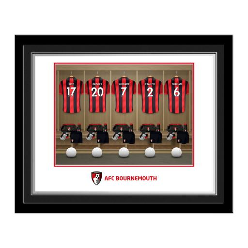 AFC Bournemouth Dressing Room Photo Framed