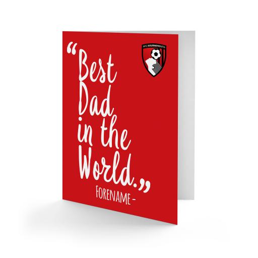 AFC Bournemouth Best Dad In The World Card