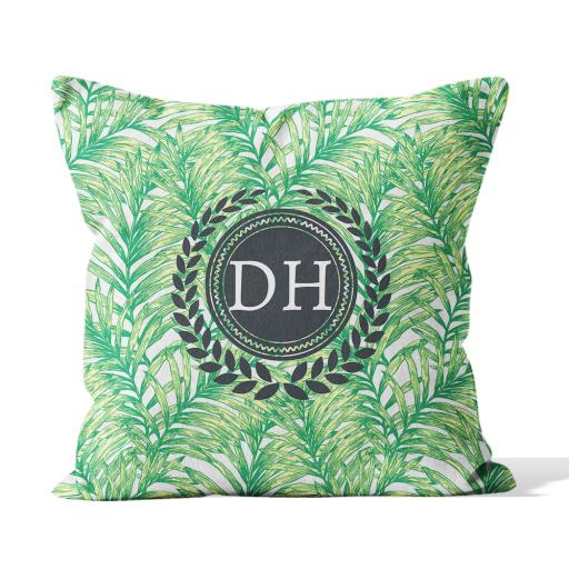 Palm Leaves 2 - Faux Suede - Double Sided print - 45cm x 45cm