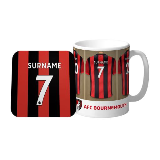 AFC Bournemouth Dressing Room Mug & Coaster Set