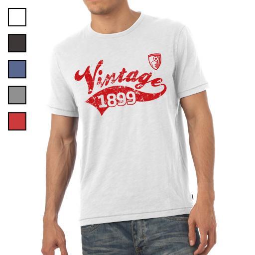 AFC Bournemouth Mens Vintage T-Shirt