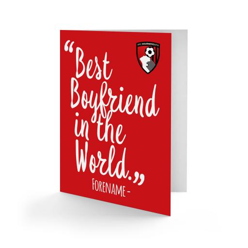 AFC Bournemouth Best Boyfriend In The World Card