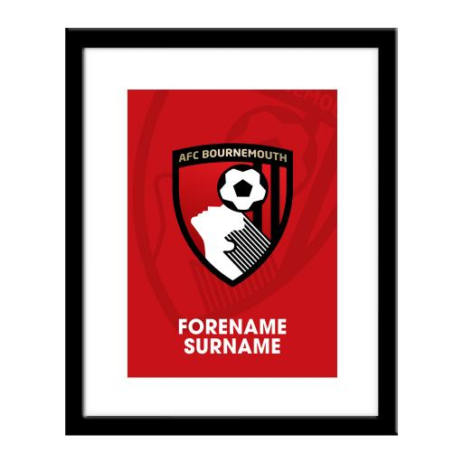 AFC Bournemouth Bold Crest Print