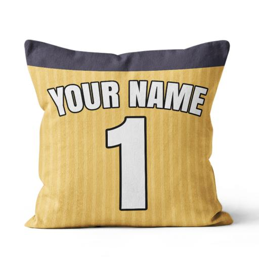 Football - Arsenal Away Kit Personalisation name and number - Faux Suede - Double Sided print - 45cm x 45cm