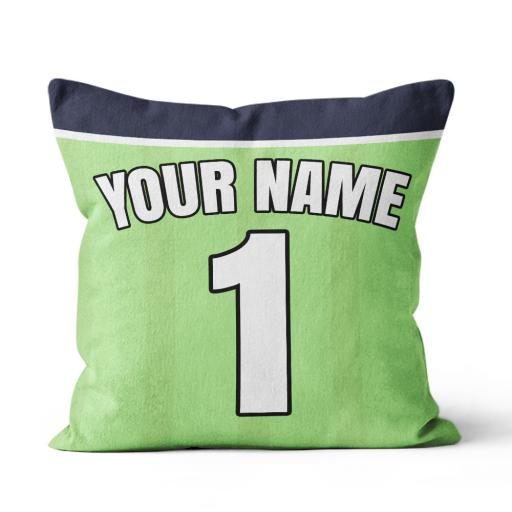 Football - Liverpool Away Kit Personalisation name and number - Faux Suede - Double Sided print - 45cm x 45cm