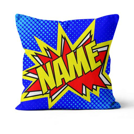 Name Pop Art Style - Faux Suede - Double Sided print - 45cm x 45cm