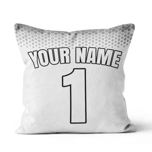 Football - Man Utd Away Home Kit Personalisation name and number - Faux Suede - Double Sided print - 45cm x 45cm