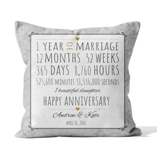 Annivery year,month,weeks etc - Smooth Linen - Double Sided print - 45cm x 45cm