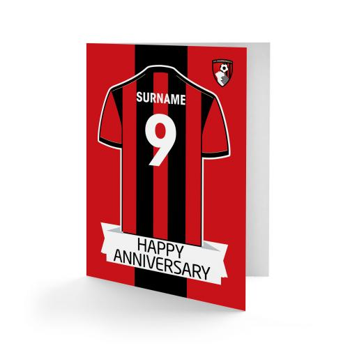 AFC Bournemouth Shirt Anniversary Card