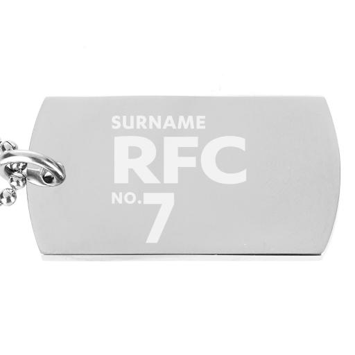 Reading FC Number Dog Tag Pendant