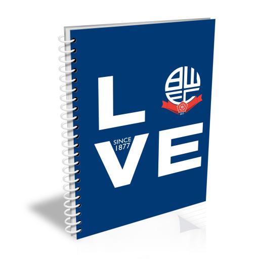 Bolton Wanderers Love Notebook