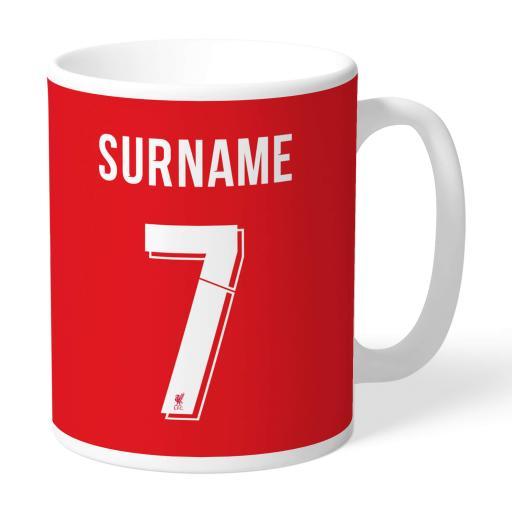 Liverpool FC Back Of Shirt Mug