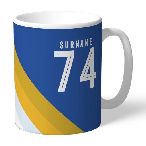 Personalised Leicester City FC Stripe Mug.