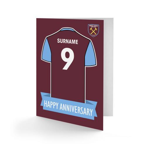 West Ham United FC Shirt Anniversary Card