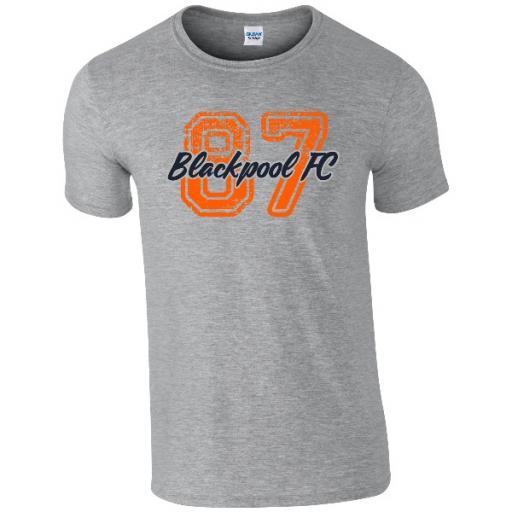 Personalised Blackpool FC Varsity Number T-Shirt.