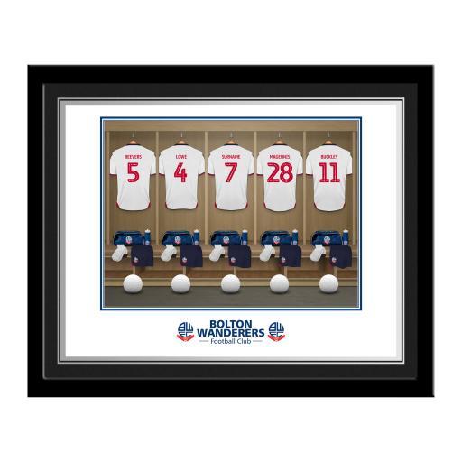 Bolton Wanderers FC Dressing Room Photo Framed