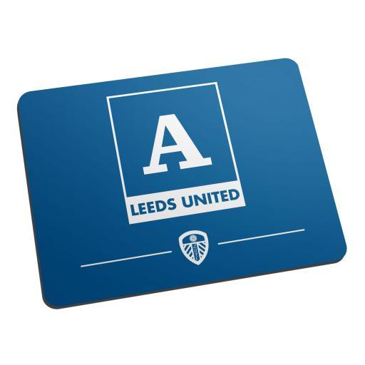 Personalised Leeds United FC Monogram Mouse Mat.