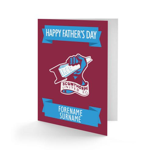 Scunthorpe United FC Crest Father's Day Card