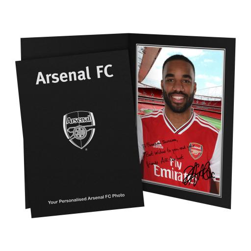 Arsenal FC Lacazette Autograph Photo Folder