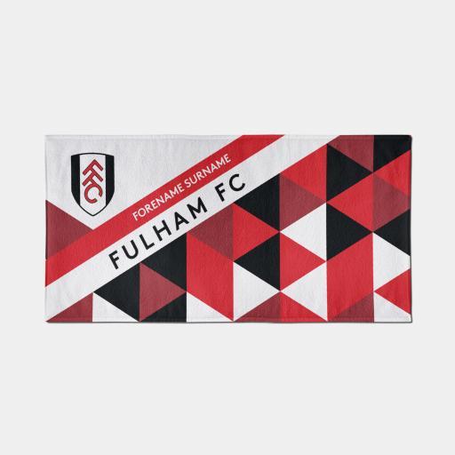 Fulham FC Geometric Design Towel - 70cm x 140cm