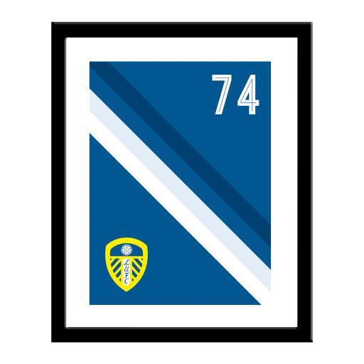 Personalised Leeds United FC Stripe Print.
