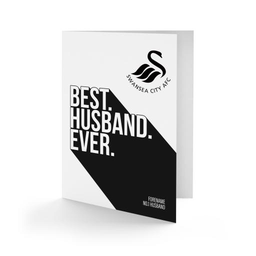 Swansea City AFC Best Husband Ever Card