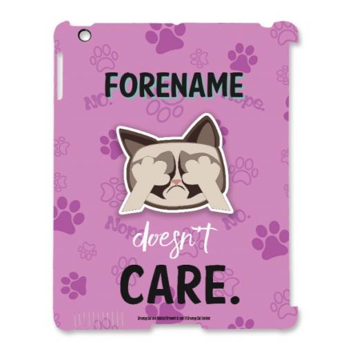 Grumpy Cat Emoji - Doesn't Care iPad Case Pink