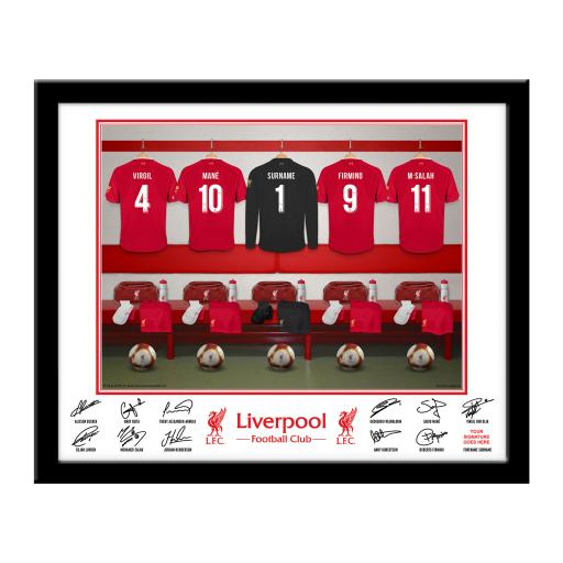 LFC Goalkeeper Dressing Room Framed Print