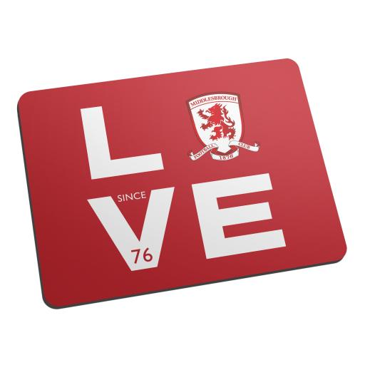 Personalised Middlesbrough Love Mouse Mat.