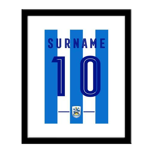 Personalised Huddersfield Town Retro Shirt Print.