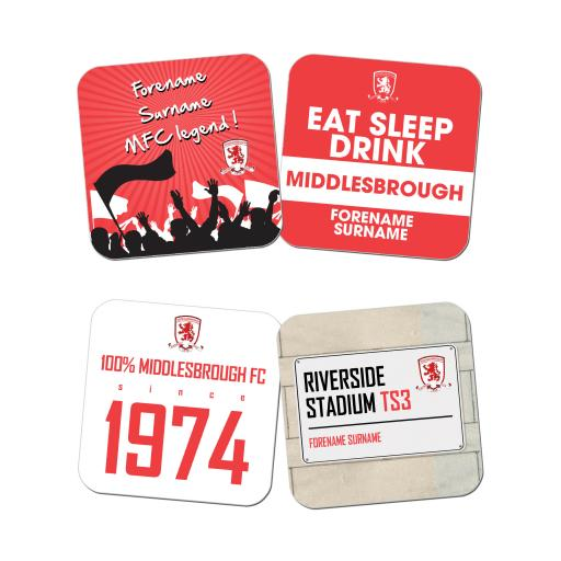 Middlesbrough FC Coasters