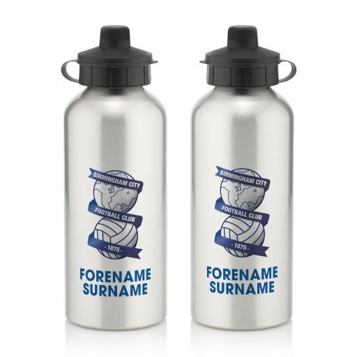 Personalised Birmingham City Bold Crest Water Bottle.