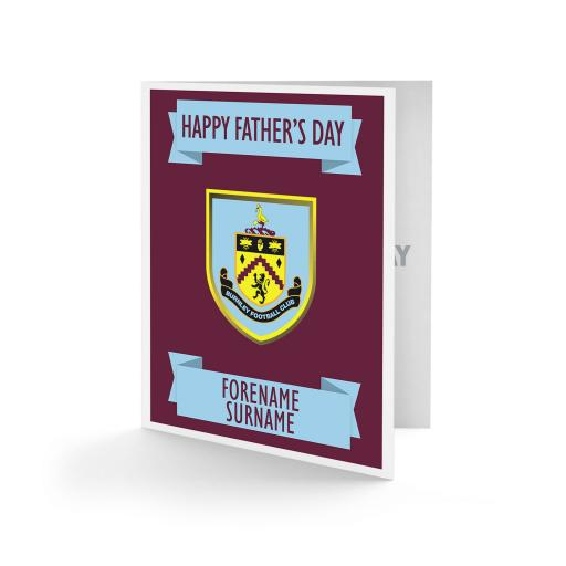 Burnley FC Crest Father's Day Card