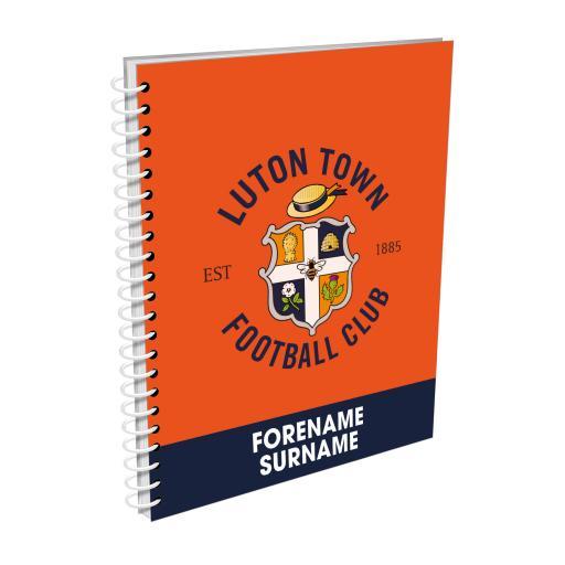 Luton Town FC Bold Crest Notebook