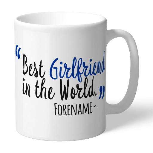 Personalised Brighton and Hove Albion Best Girlfriend In The World Mug.