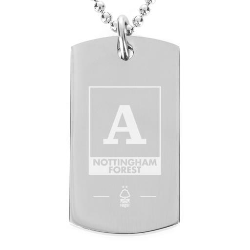 Nottingham Forest FC Monogram Dog Tag Pendant