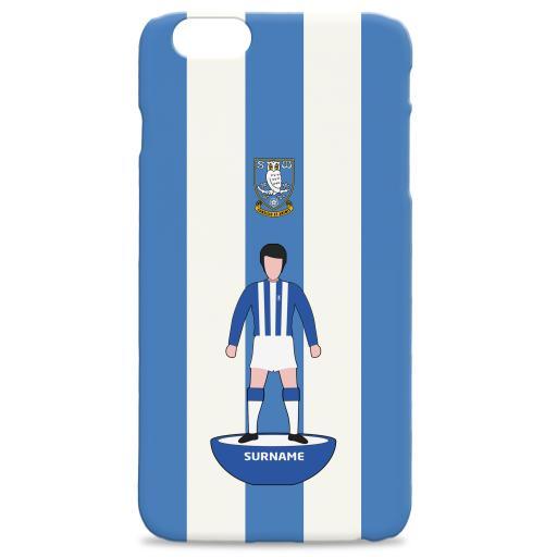 Personalised Sheffield Wednesday Player Figure Hard Back Phone Case.