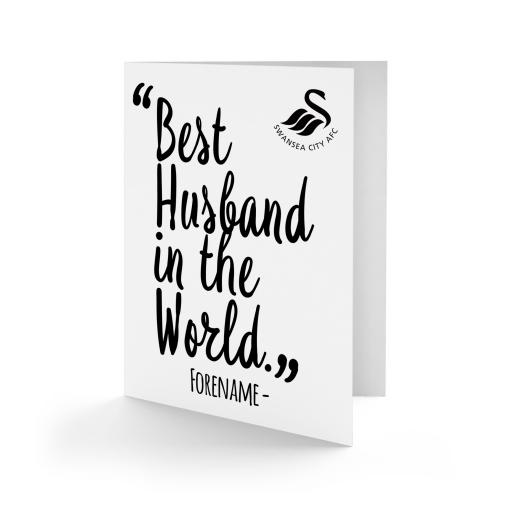 Swansea City AFC Best Husband In The World Card