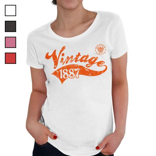 Blackpool FC Ladies Vintage T-Shirt