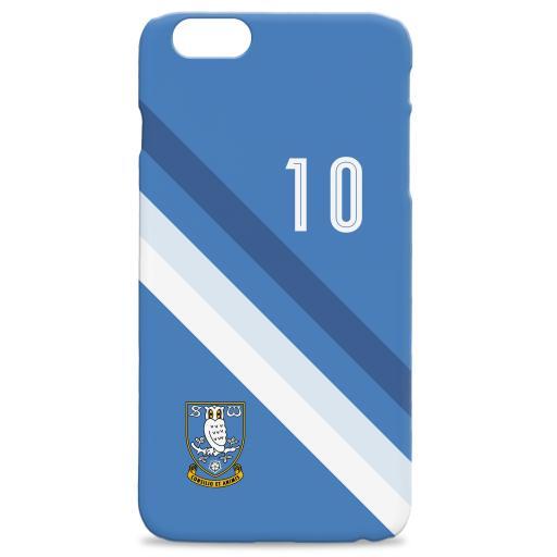 Personalised Sheffield Wednesday Stripe Hard Back Phone Case.