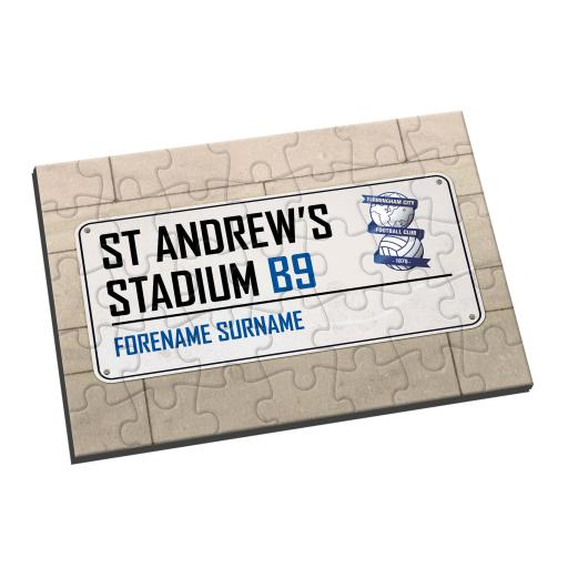 Birmingham City FC Street Sign Jigsaw