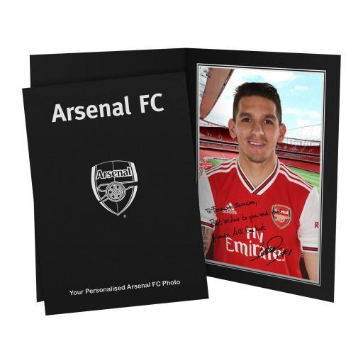 Arsenal FC Torreira Autograph Photo Folder