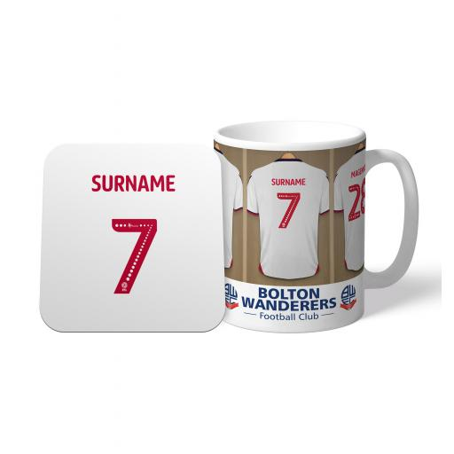 Bolton Wanderers FC Dressing Room Mug & Coaster Set