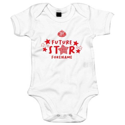 Personalised Sunderland AFC Future Star Baby Bodysuit.